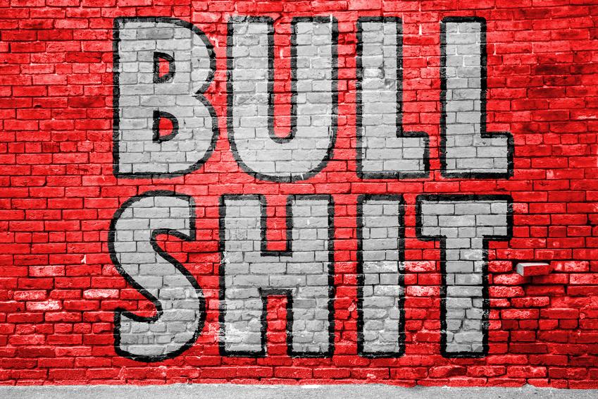 Bullshit Ziegelsteinmauer Graffiti